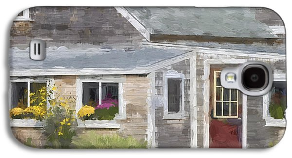 Perkins Cove Maine Painterly Effect Galaxy S4 Case by Carol Leigh