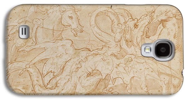 Perseus Rescuing Andromeda Red Chalk On Paper Galaxy S4 Case by or Zuccaro, Federico Zuccari