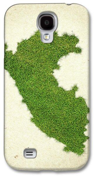 Peru Grass Map Galaxy S4 Case by Aged Pixel
