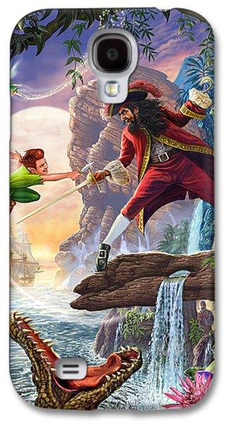 Crocodile Galaxy S4 Case - Peter Pan And Captain Hook by Steve Crisp