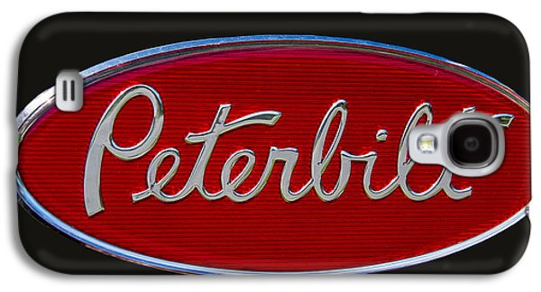 Truck Galaxy S4 Case - Peterbilt Semi Truck Emblem by Nick Gray