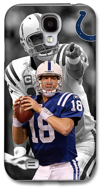 Peyton Manning Colts Galaxy S4 Case by Joe Hamilton