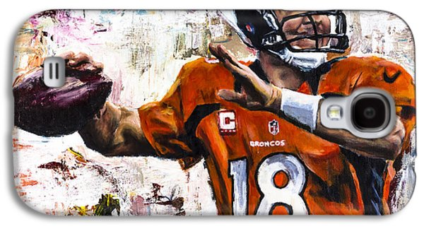 Peyton Manning Galaxy S4 Case by Mark Courage