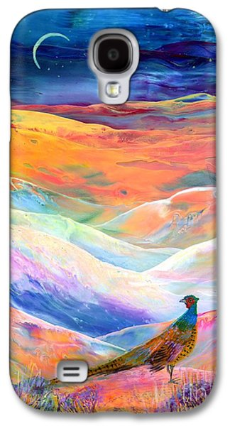 Pheasant Moon Galaxy S4 Case by Jane Small
