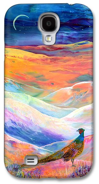 Pheasant Galaxy S4 Case - Pheasant Moon by Jane Small
