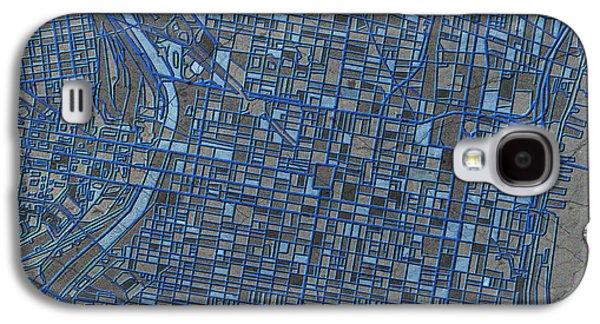 Philadelphia Map Antique 3 Galaxy S4 Case by Bekim Art