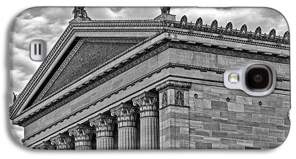 Philadelphia Museum Of Art Column Details Bw Galaxy S4 Case by Susan Candelario