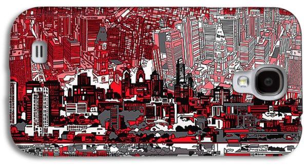 Philadelphia Skyline Abstract 4 Galaxy S4 Case