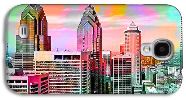 Philadelphia Skyline  Galaxy S4 Case by Marvin Blaine