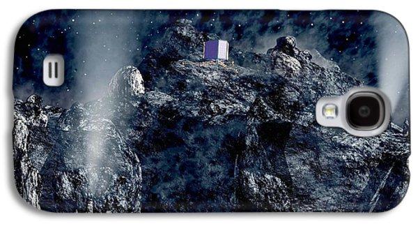 Philae Lander Descending Onto Comet Galaxy S4 Case by European Space Agency,medialab