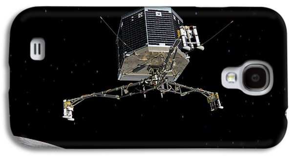 Philae Lander Descending To Comet 67pc-g Galaxy S4 Case by Science Source