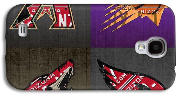 Phoenix Sports Fan Recycled Vintage Arizona License Plate Art Diamondbacks Suns Coyotes Cardinals Galaxy S4 Case