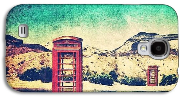 #phone #telephone #box #booth #desert Galaxy S4 Case