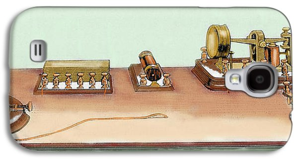 Phonoplex Telegraph Invented By Thomas Galaxy S4 Case by Prisma Archivo