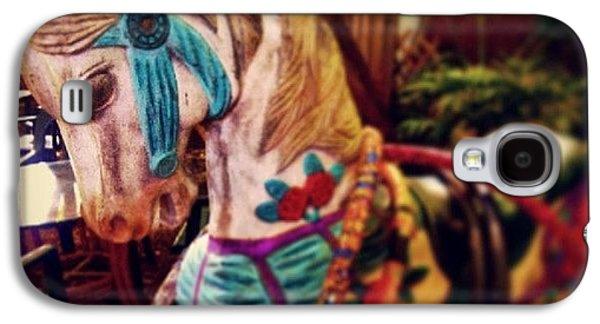 Decorative Galaxy S4 Case - Blue Heaven Carousel Horse by Dani Hoy