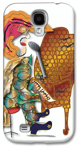 Galaxy S4 Case featuring the digital art Piano Man by Marvin Blaine