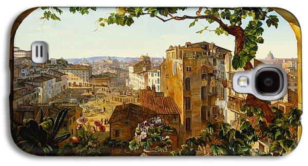 Piazza Barberini In Rome Galaxy S4 Case by Karl von Bergen