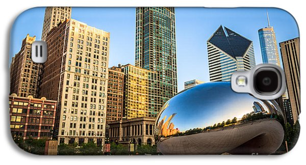 Picture Of Cloud Gate Bean And Chicago Skyline Galaxy S4 Case