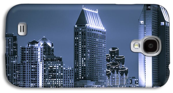 Picture Of San Diego Night Skyline Galaxy S4 Case by Paul Velgos