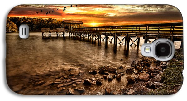 Pier At Smith Mountain Lake Galaxy S4 Case by Joshua Minso