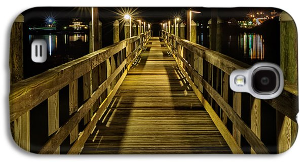 Pier Into The Night Galaxy S4 Case by Len Saltiel
