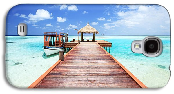 Pier To Tropical Sea In The Maldives - Indian Ocean Galaxy S4 Case