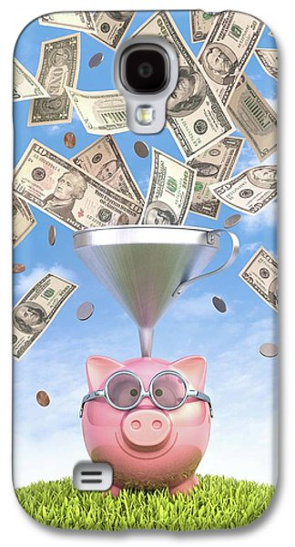 Piggy Bank And Dollars Galaxy S4 Case by Ktsdesign