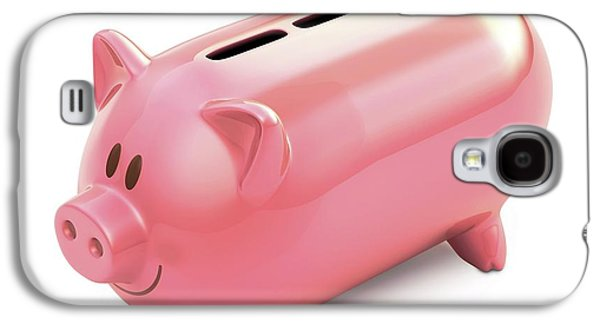 Piggy Bank With Three Slots Galaxy S4 Case by Ktsdesign