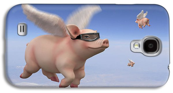 Pigs Fly 1 Galaxy S4 Case