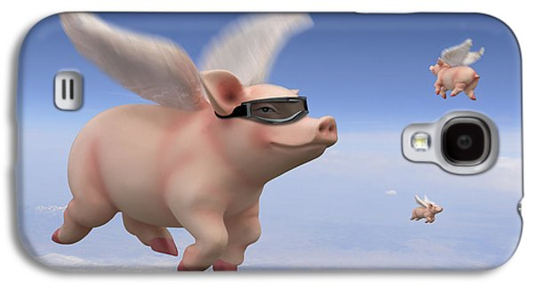 Pigs Fly Galaxy S4 Case by Mike McGlothlen
