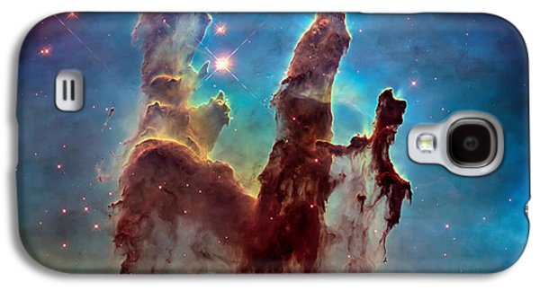 Science Fiction Galaxy S4 Case - Pillars Of Creation In High Definition - Eagle Nebula by Jennifer Rondinelli Reilly - Fine Art Photography