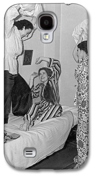 Pillow Fight At Columbia Galaxy S4 Case by Underwood Archives