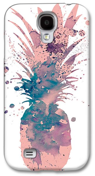 Pineapple 3 Galaxy S4 Case by Watercolor Girl