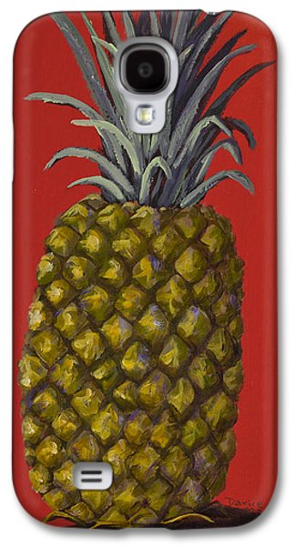Pineapple On Red Galaxy S4 Case