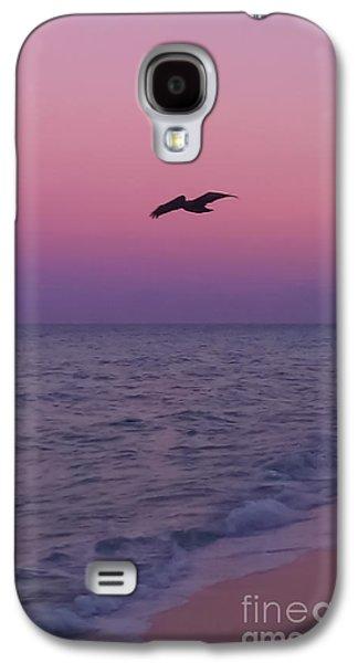 Pink Beach Sunset Galaxy S4 Case