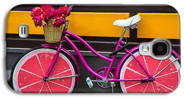 Bicycle Galaxy S4 Case - Pink Bike by Garry Gay