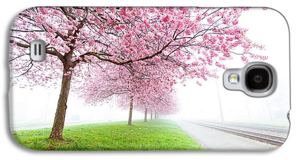 Pink Blossom On Trees Galaxy S4 Case by Wladimir Bulgar