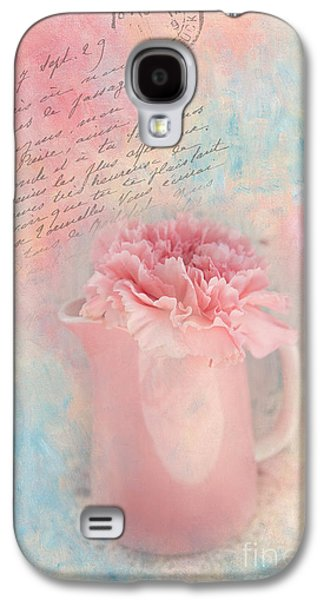Pink Carnation In Pitcher Galaxy S4 Case by Kay Pickens
