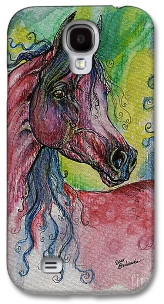 Pink Horse With Blue Mane Galaxy S4 Case by Angel  Tarantella