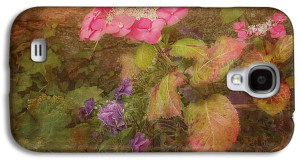 Pink Hydrangea And Purple Pansies Galaxy S4 Case by Bellesouth Studio