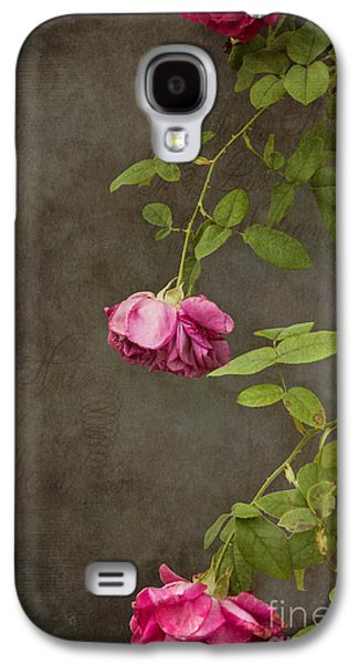 Pink On Gray Galaxy S4 Case by K Hines