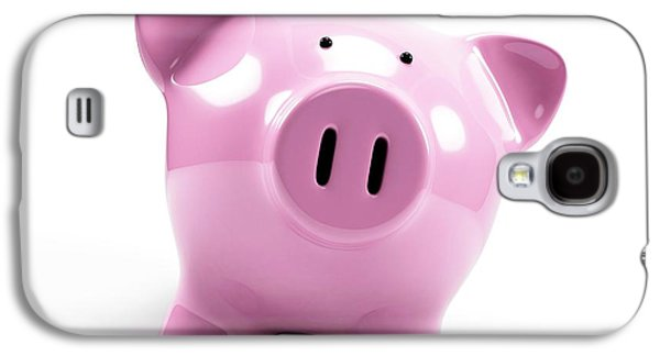 Pink Piggy Bank Galaxy S4 Case by Sebastian Kaulitzki
