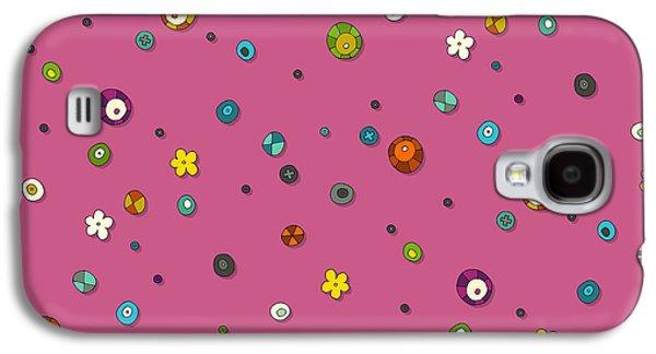 Pink Pop Flower Spot Galaxy S4 Case by Sharon Turner
