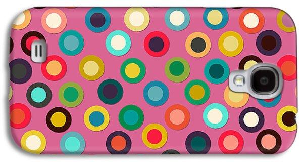 Pink Pop Spot Galaxy S4 Case by Sharon Turner