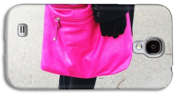 Bright Galaxy S4 Case - Pink Shoulder Bag by Matthias Hauser