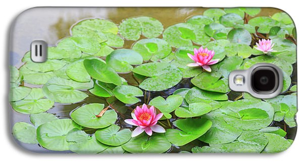Pink Water Lilies, Lake View Hotel Galaxy S4 Case by Stuart Westmorland
