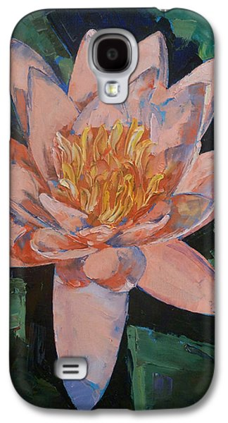Pink Water Lily Galaxy S4 Case