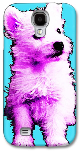 Pink Westie - West Highland Terrier Art By Sharon Cummings Galaxy S4 Case by Sharon Cummings