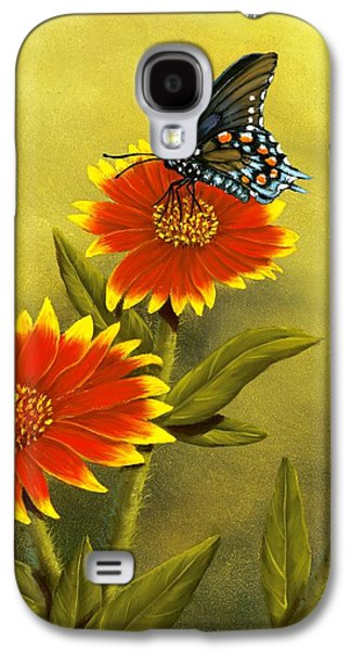 Pipevine Swallowtail And Blanket Flower Galaxy S4 Case
