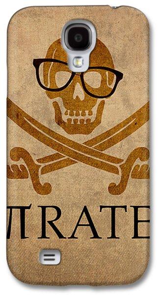Pirate Math Nerd Humor Poster Art Galaxy S4 Case by Design Turnpike